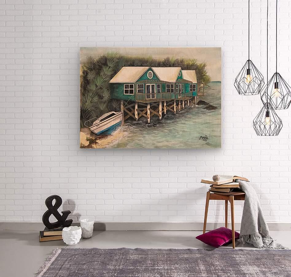 Collection BERMUDA- Stilt house  Impression sur bois
