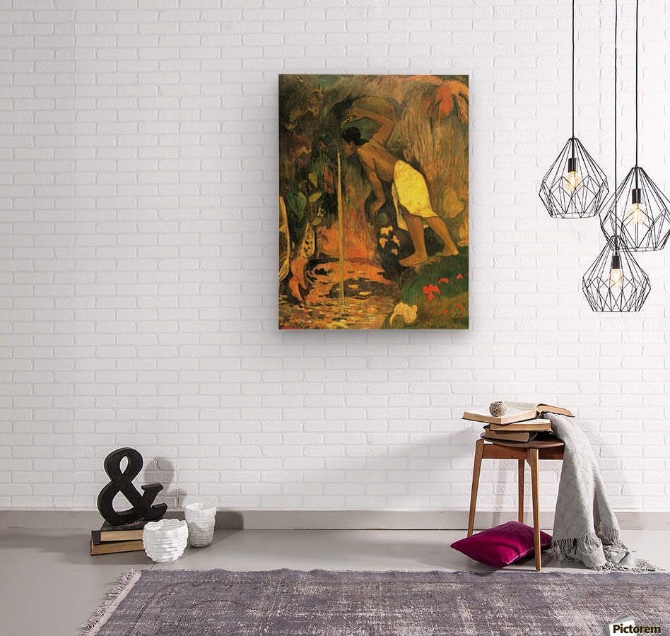 Mysterious Source by Gauguin  Wood print