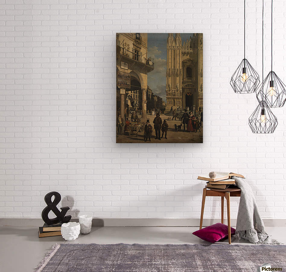 View of the Piazza del Duomo  Wood print