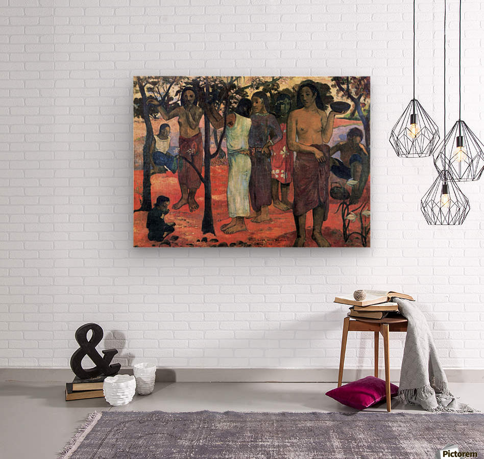 Nava Nava Mehana by Gauguin  Wood print