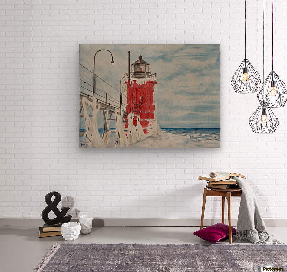 South Haven Lighthouse Michigan   Wood print