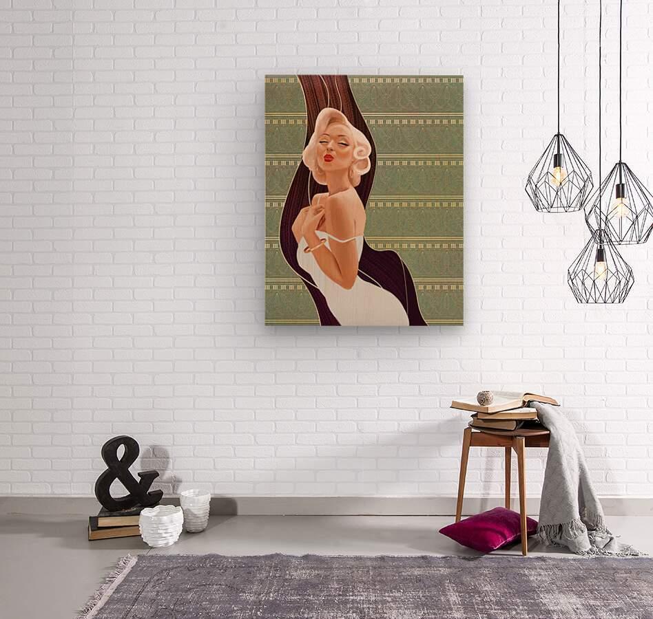 Kisses  Wood print