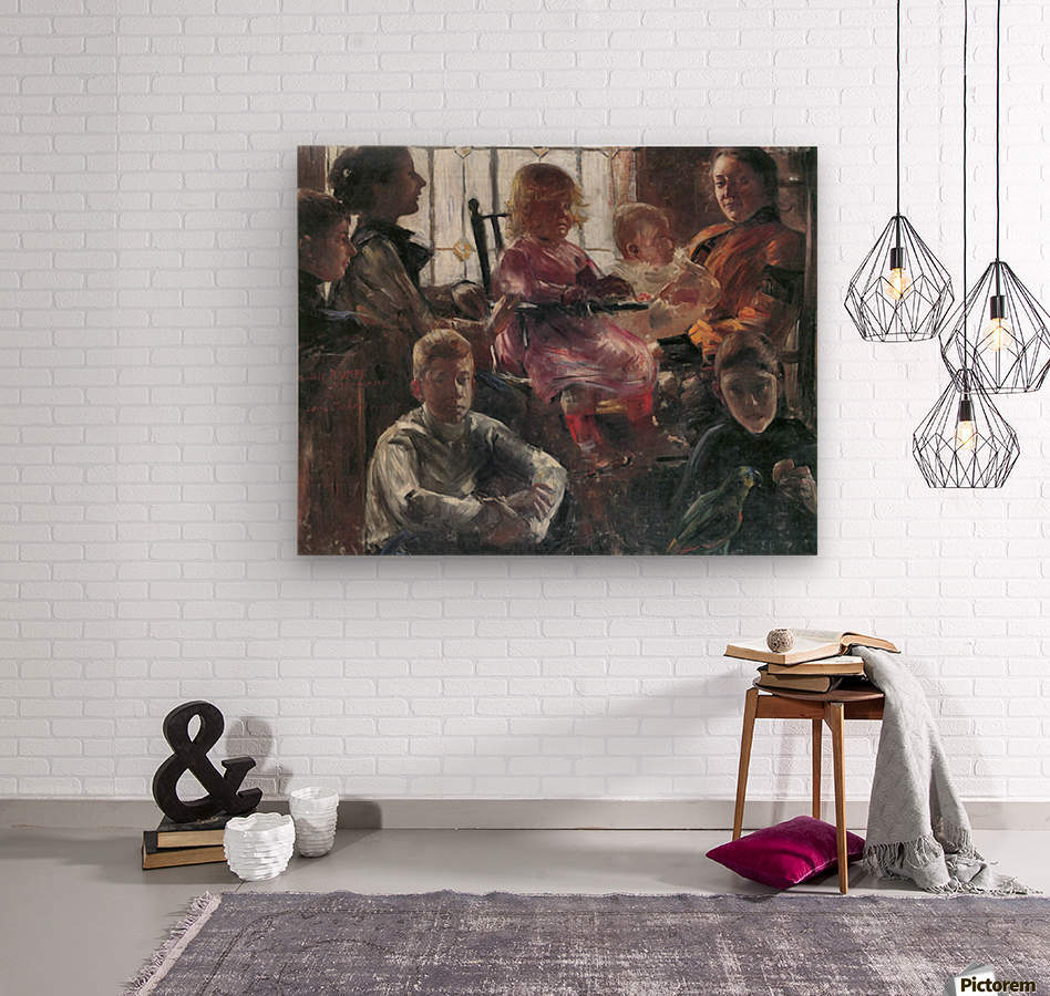 Hull family by Lovis Corinth  Wood print