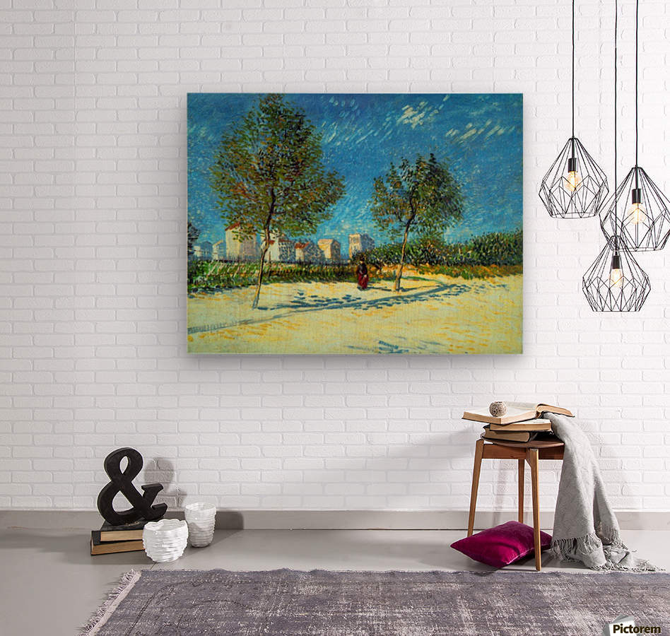 Outskirts by Van Gogh  Wood print