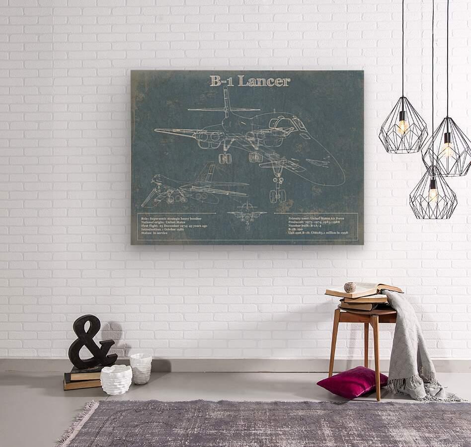 b1  Wood print