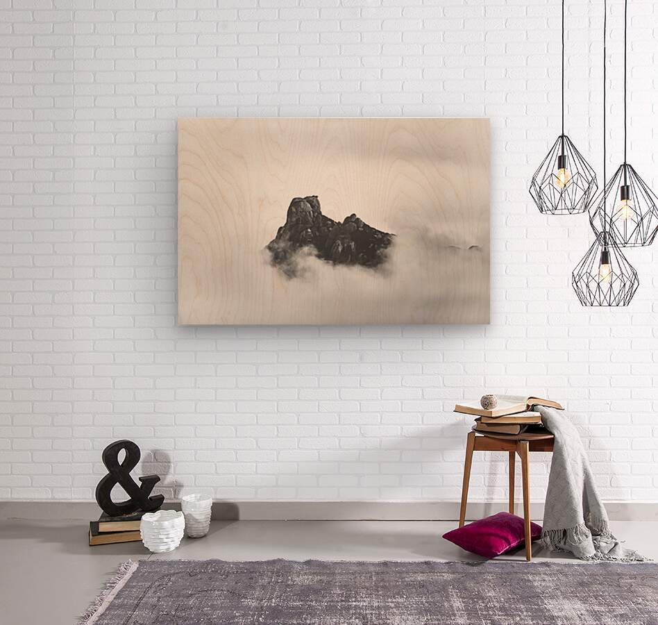 Sleeping golem  Wood print