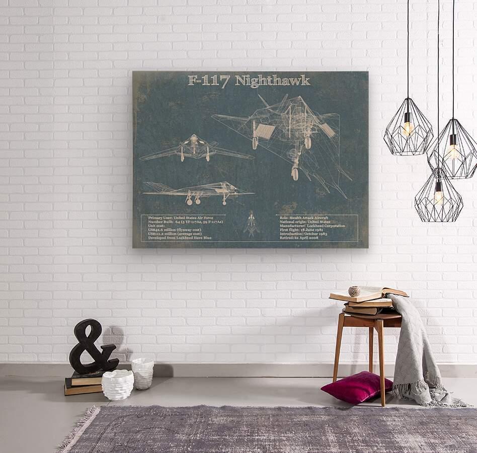 nighthawk  Wood print
