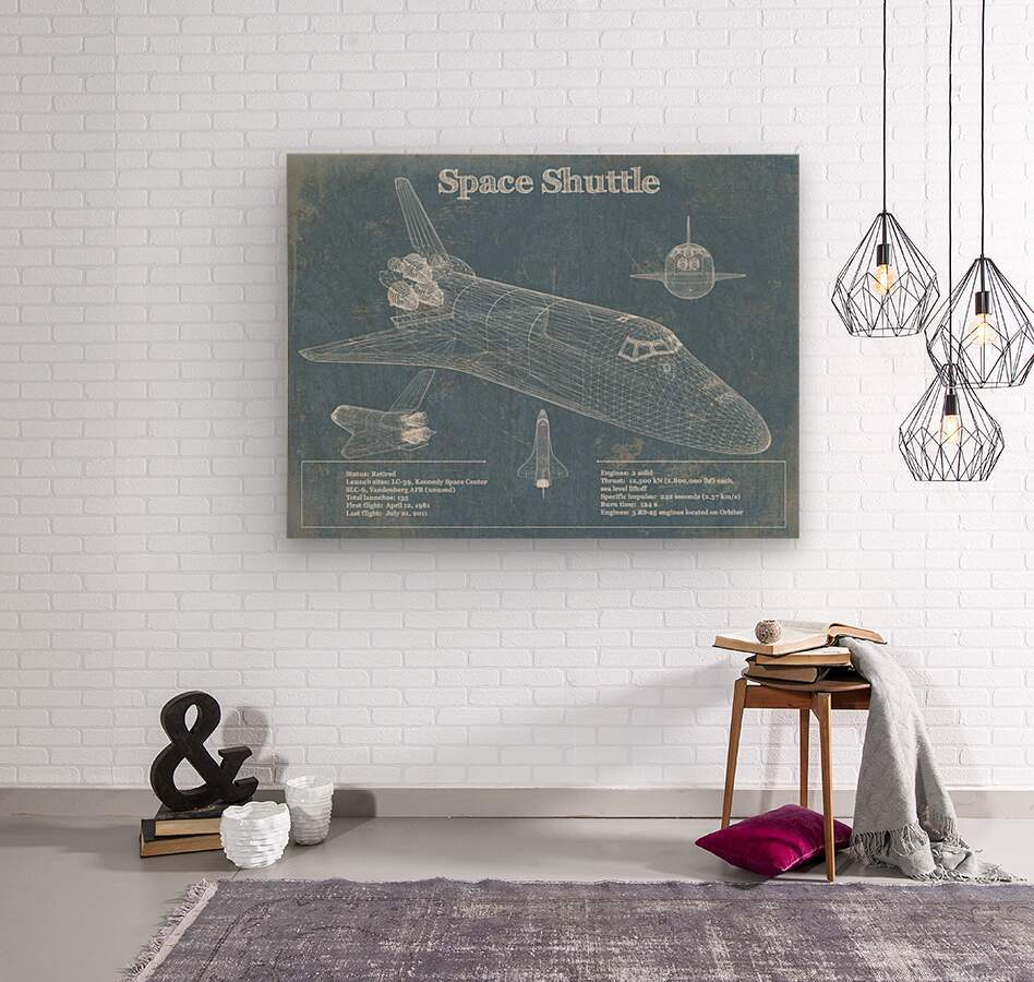 spaceshuttle  Wood print