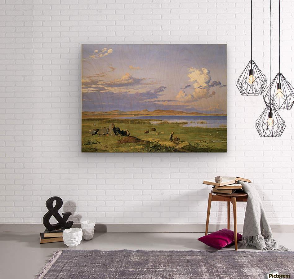 Landskab ved Arreso  Wood print
