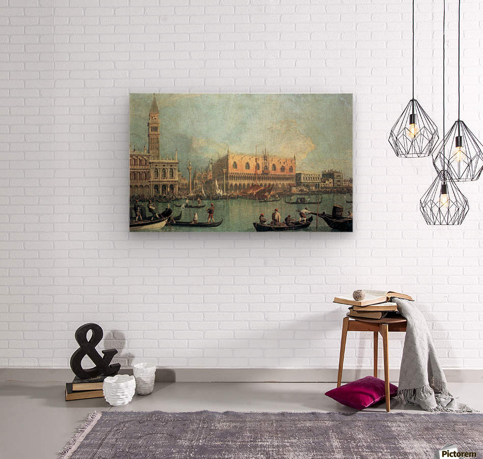 Palazzo Ducale by Canaletto  Wood print