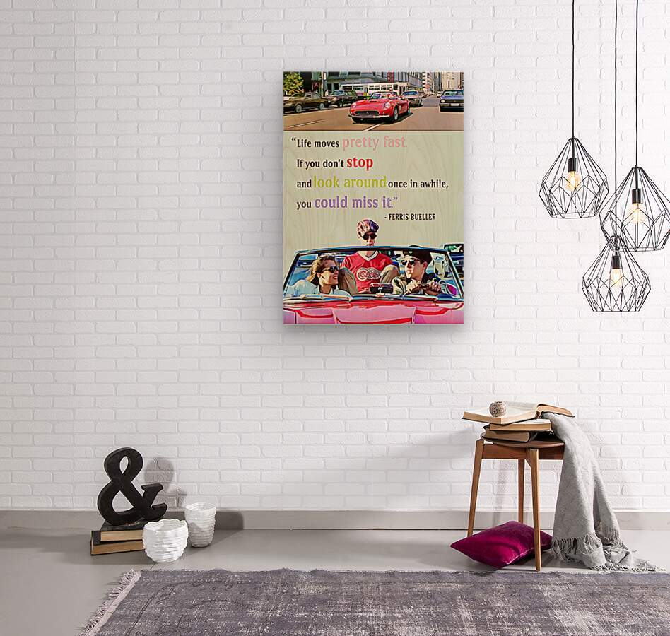 Ferris Bueller Day Off  Wood print