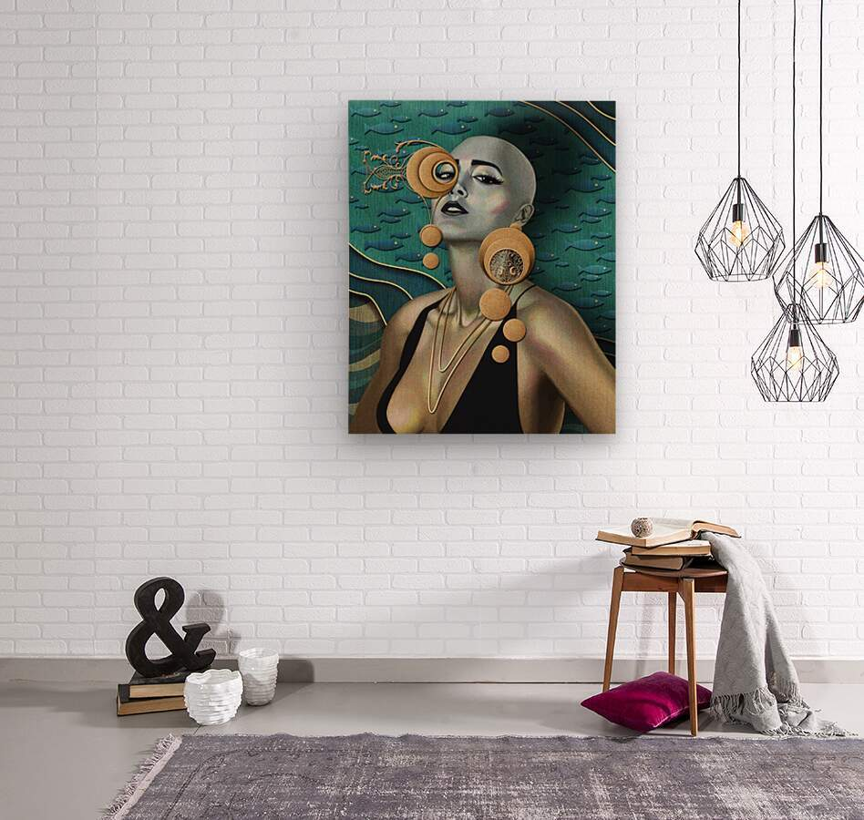 Gold Kind Of Girl  Wood print