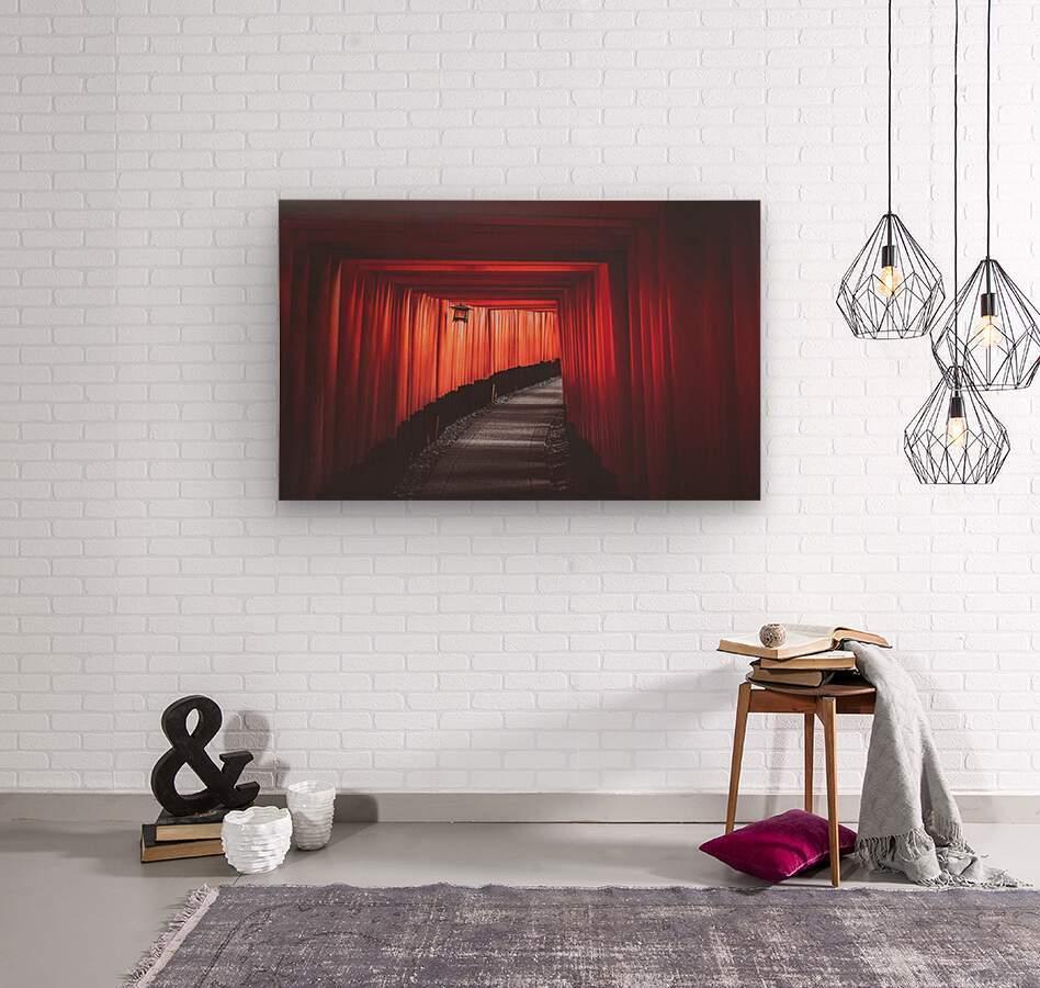 Fushimi red  Wood print