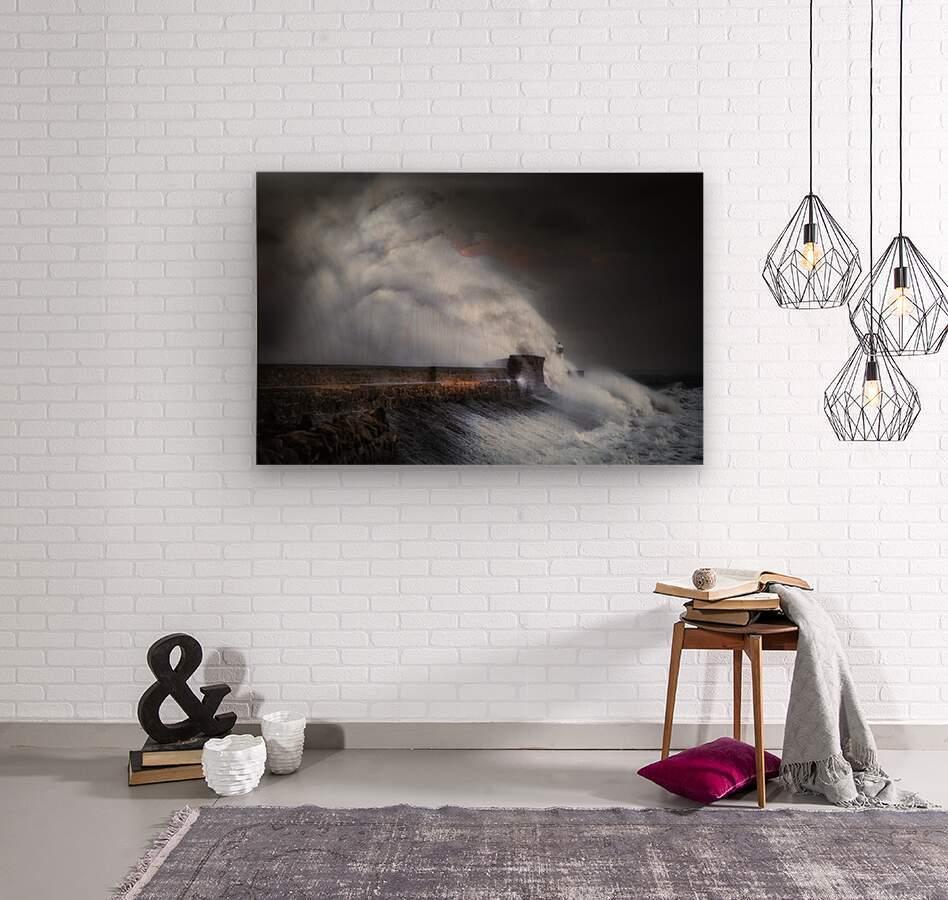 Hurricane Ophelia at Porthcawl  Wood print