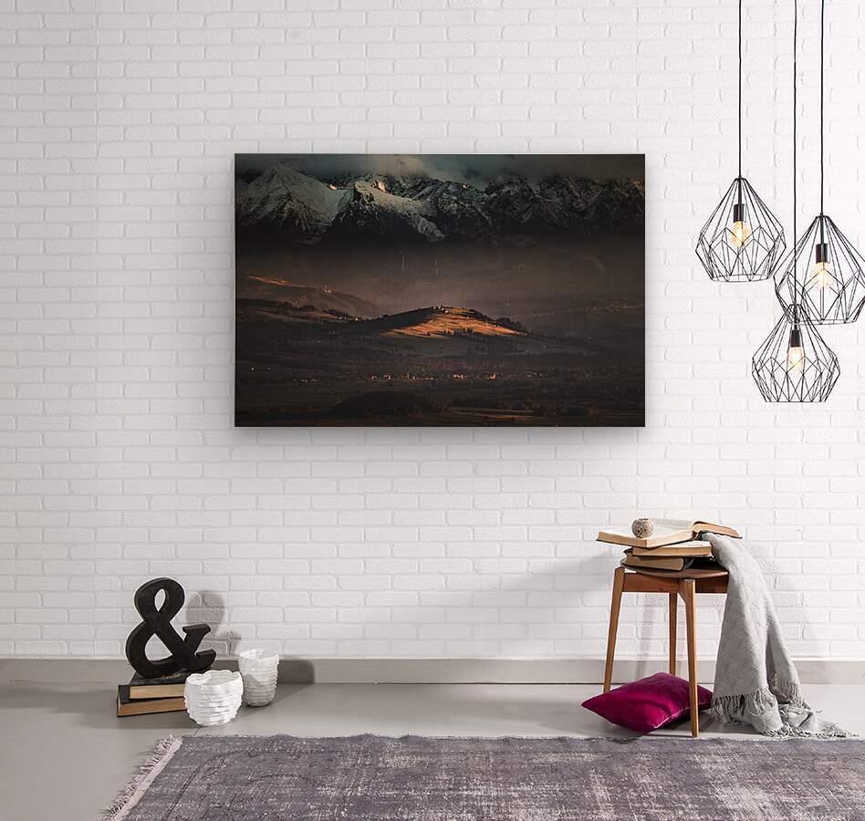 Tatry  Wood print