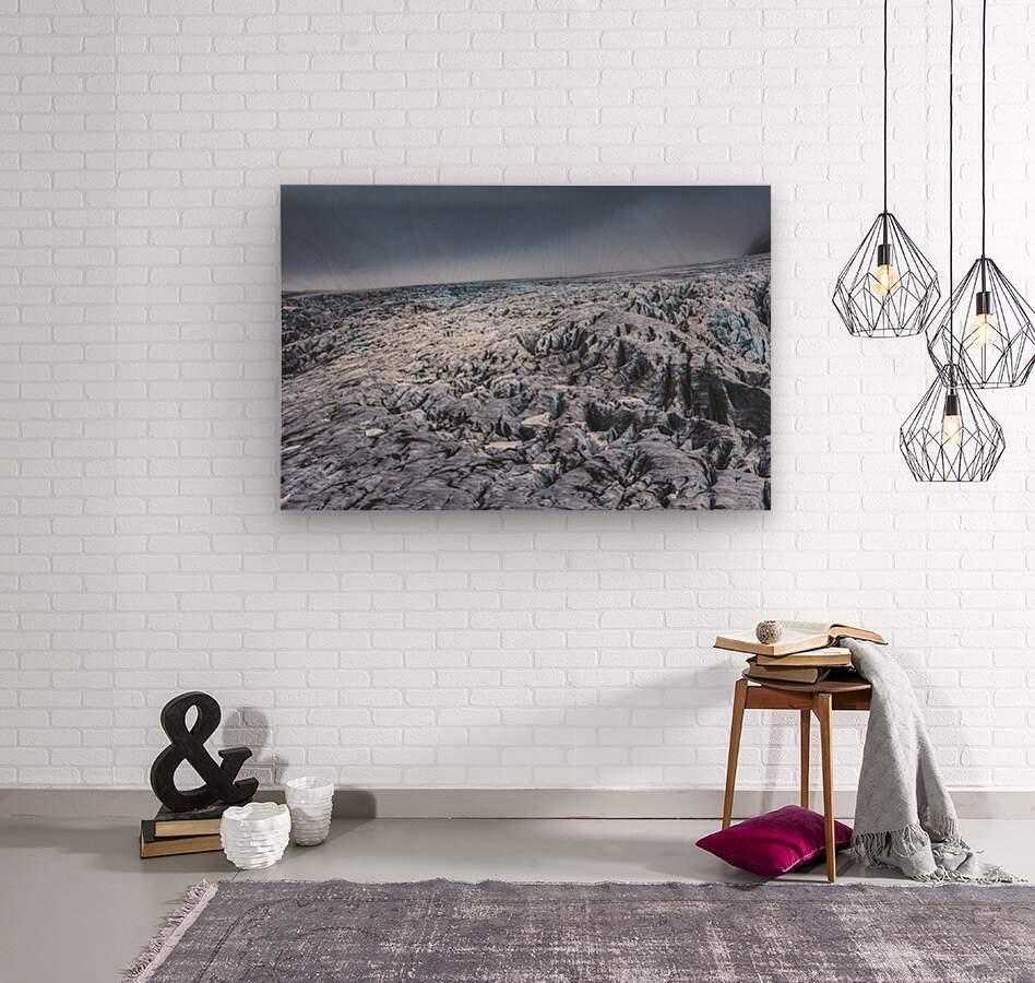 Field of ice  Wood print
