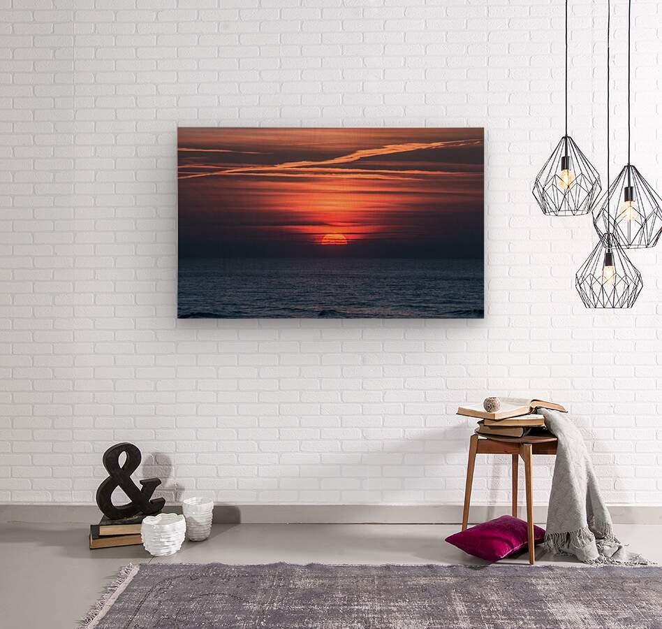 Sea lamp  Wood print
