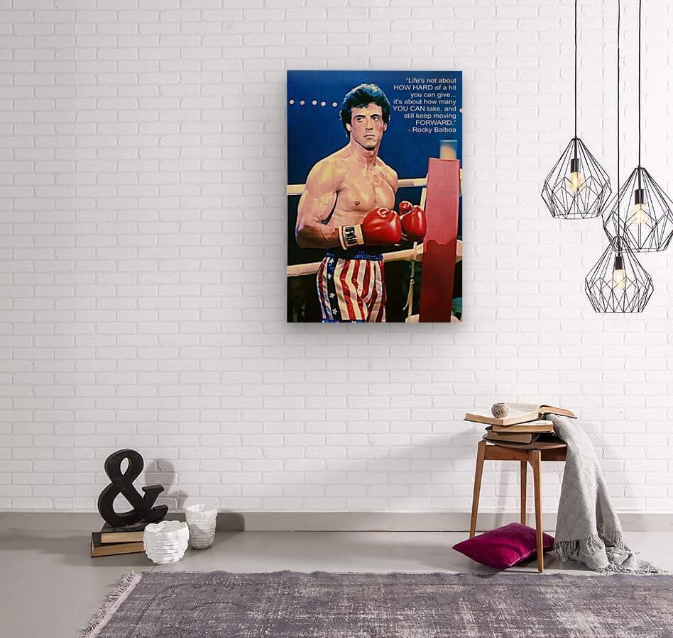 Rocky Sylvester Stallone  Wood print