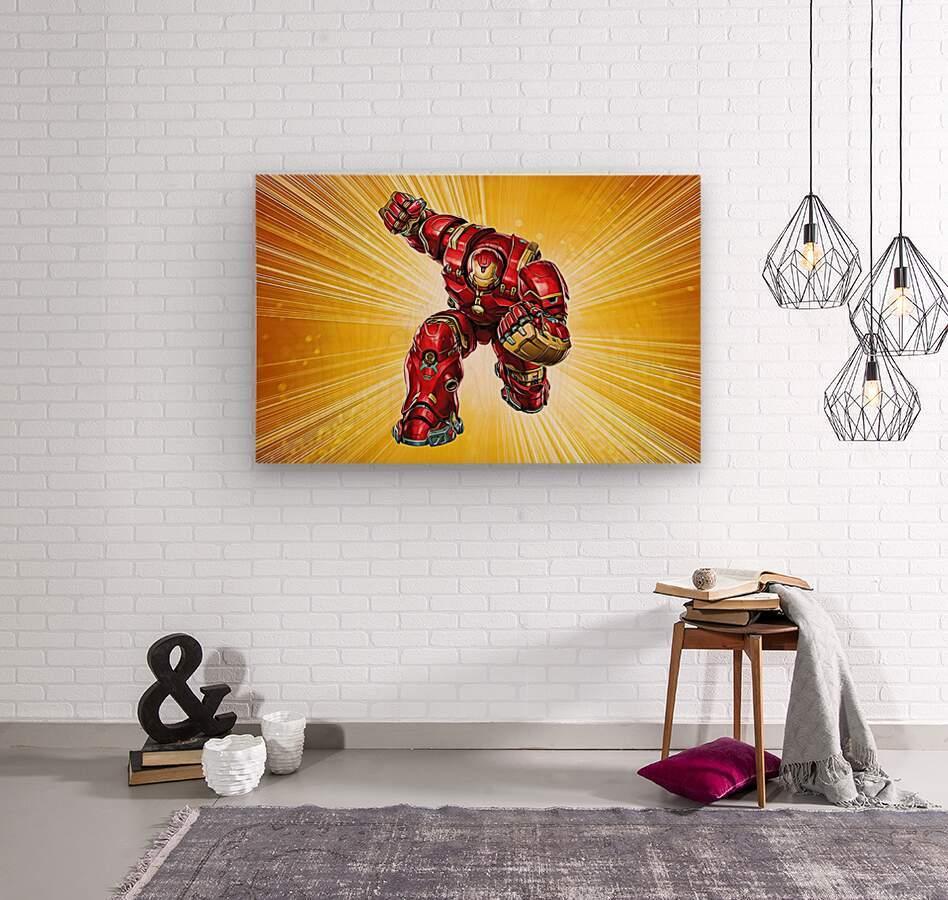 Ironman Hulkbuster  Wood print