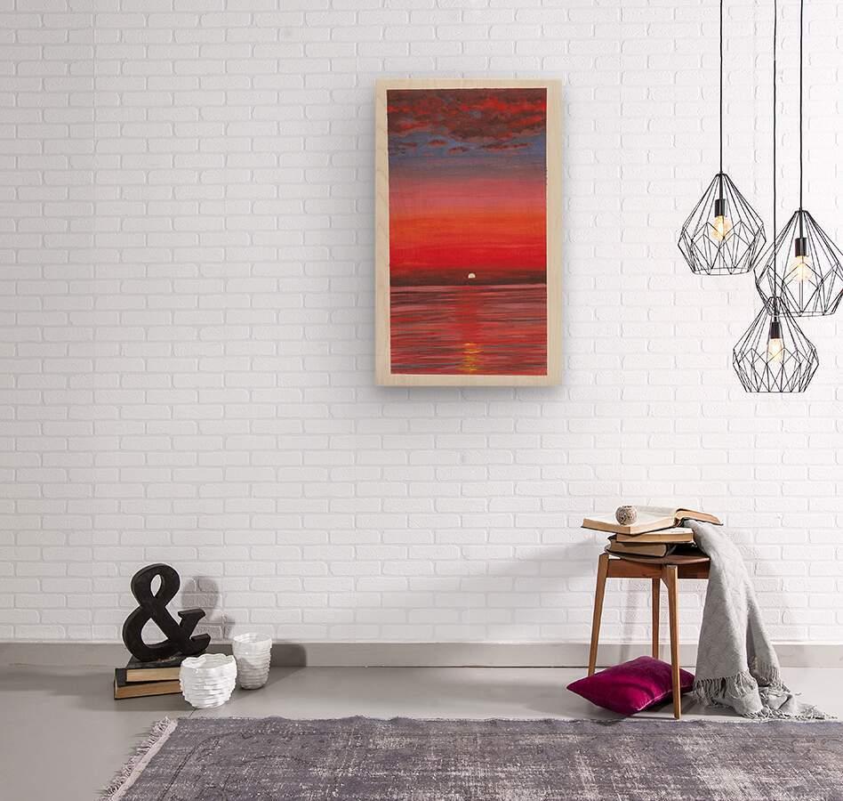 Ruby Night   Wood print