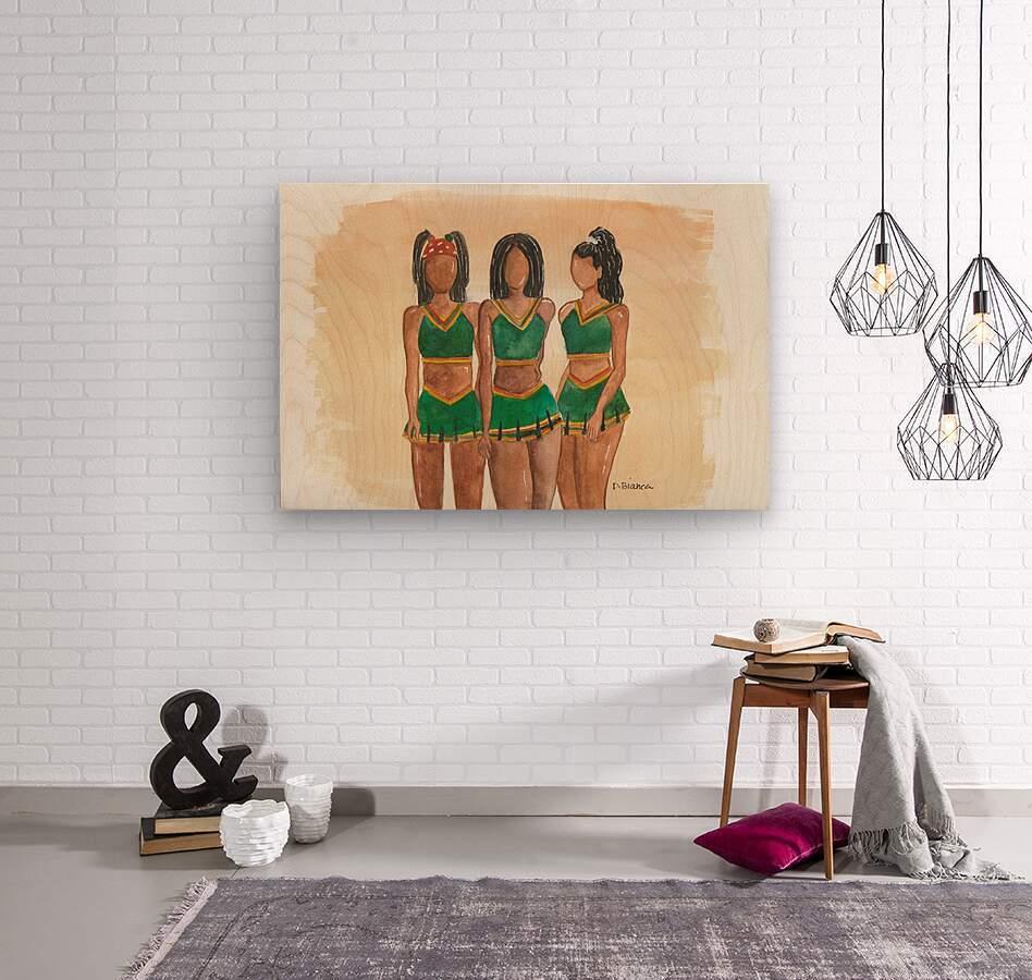 Clovers  Wood print