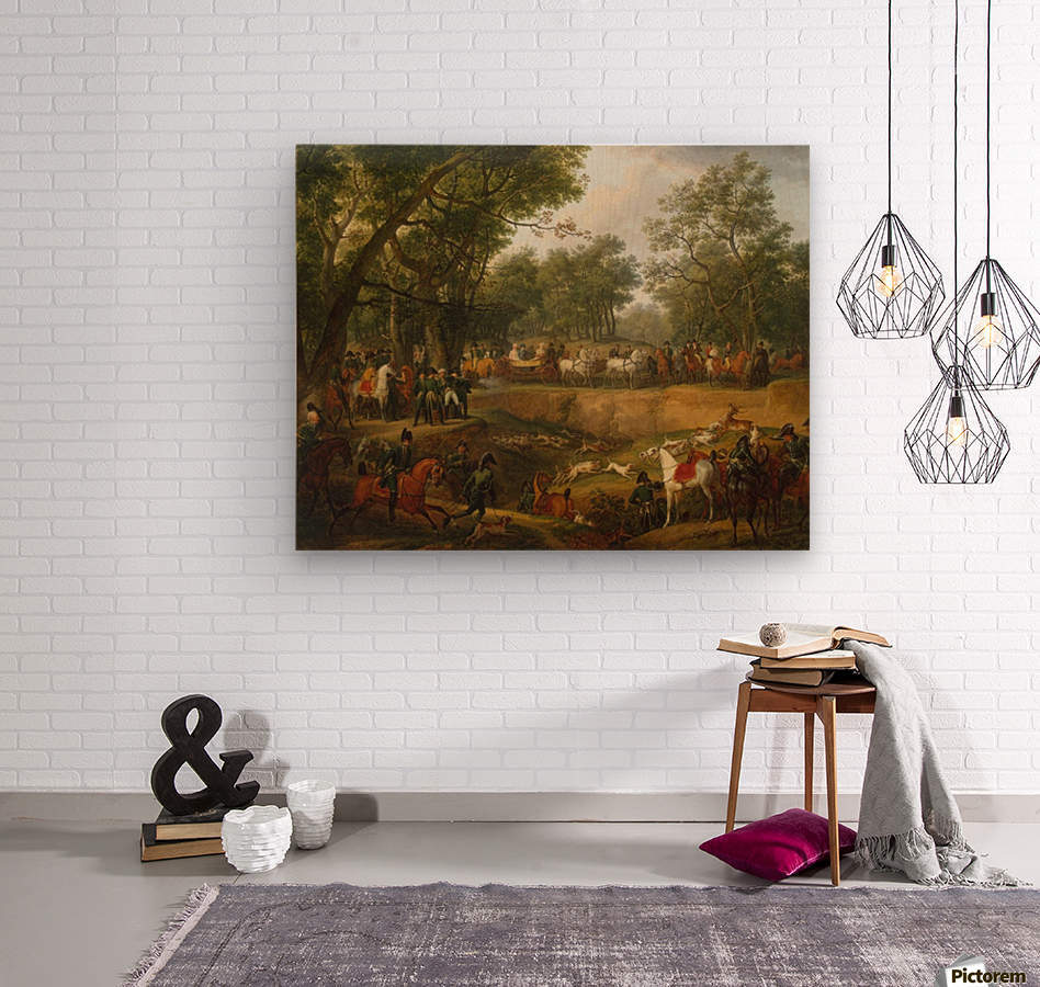 Napoleon on a Hunt in the Forest of Compiegne  Wood print