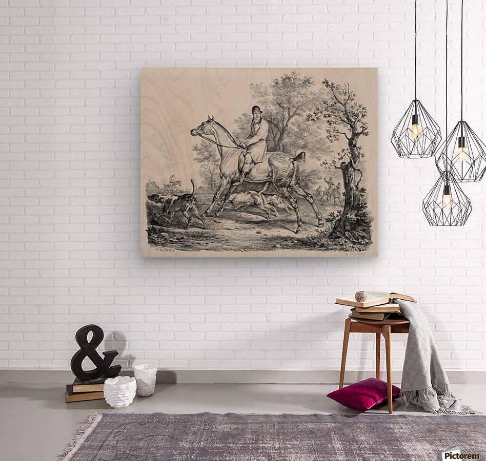 At hunt  Wood print