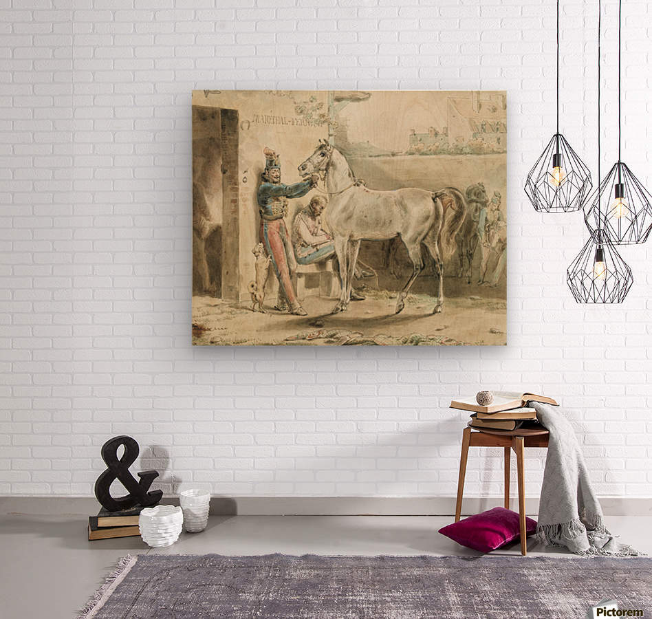 Entourage de Antoine  Wood print