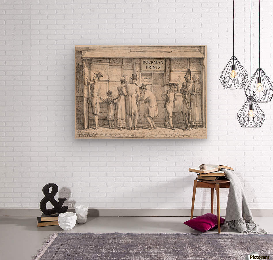 Rockman prints  Wood print