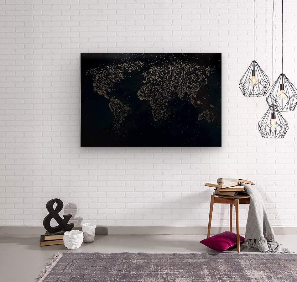 Dark Continent Milina  Wood print