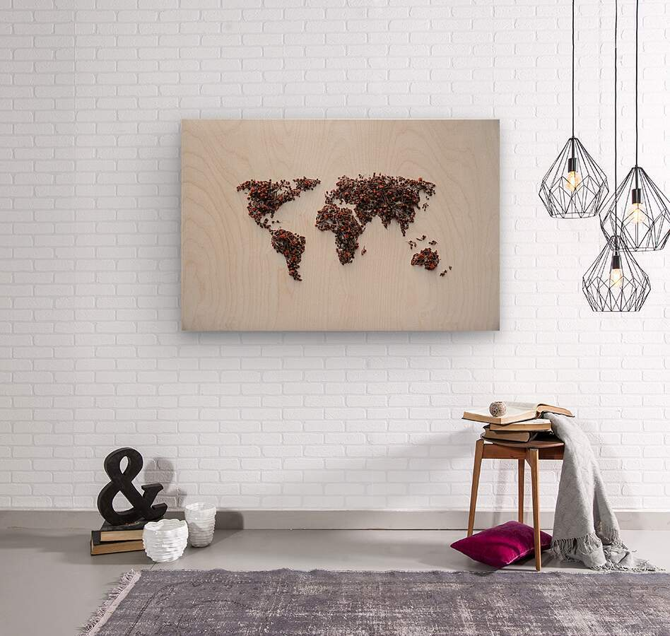 Light Continent Desertia  Wood print