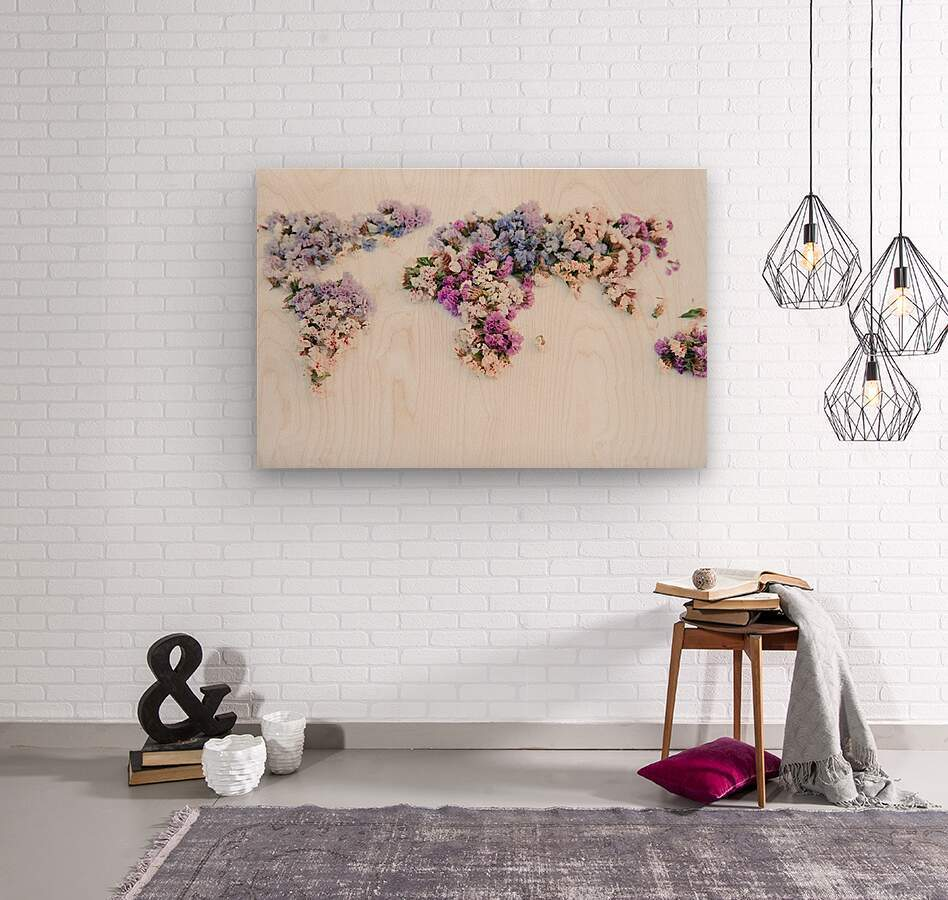 Light Continent Erina  Wood print
