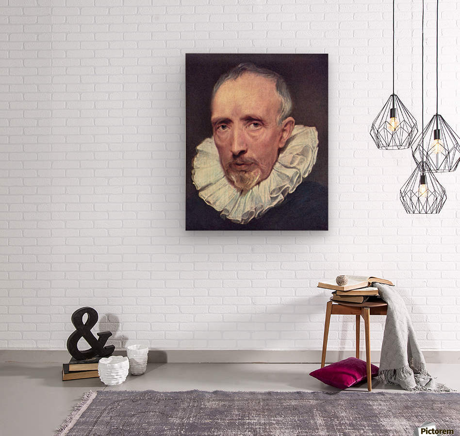 Portrait of Cornelius van der Geest by Van Dyck  Wood print