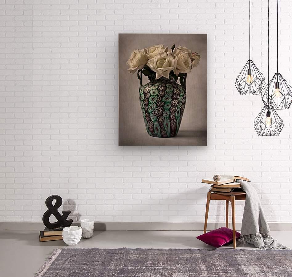 Venetian murrine vase  Wood print