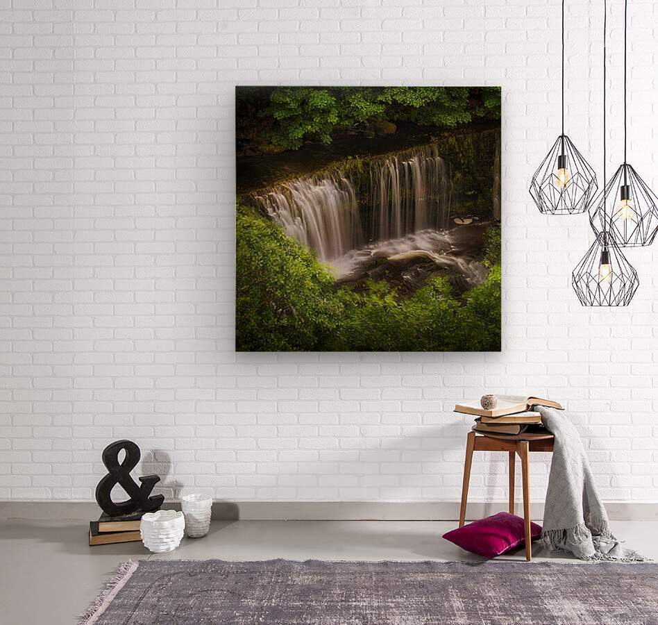 The Sgwd Isaf Clun-gwyn waterfall  Wood print