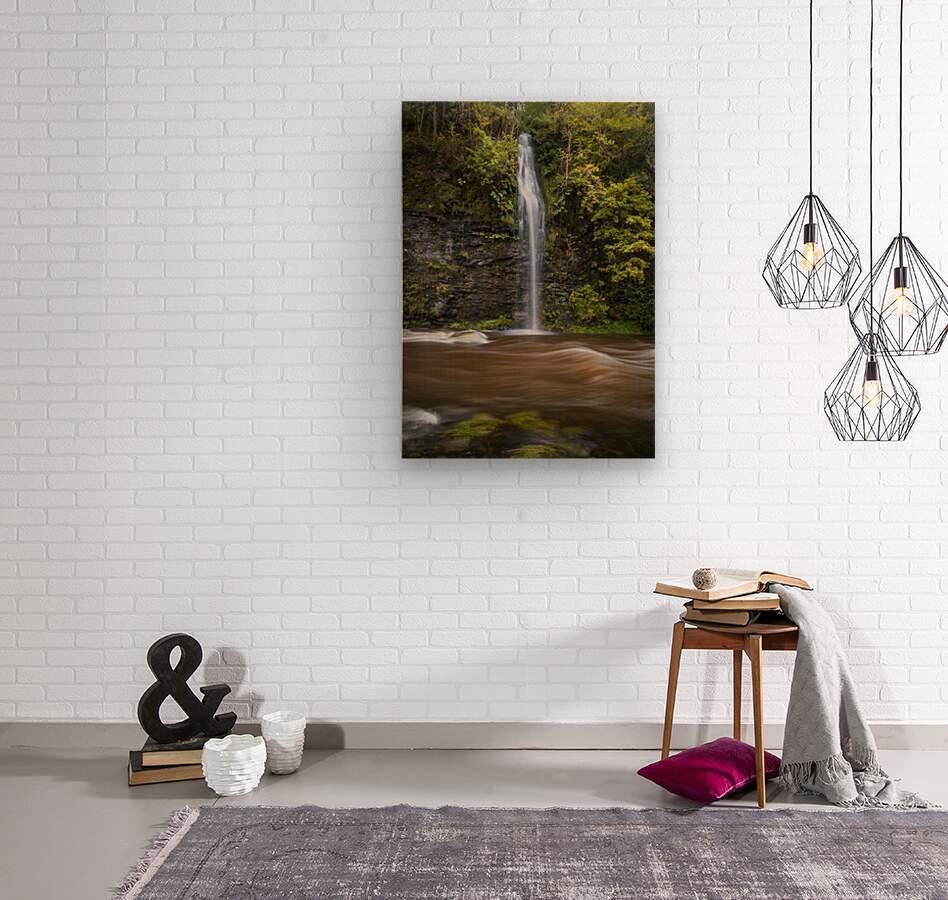 A waterfall on the river Tawe  Wood print