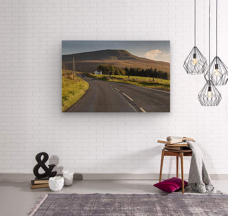 Fan Gyhirych in South Wales UK  Wood print