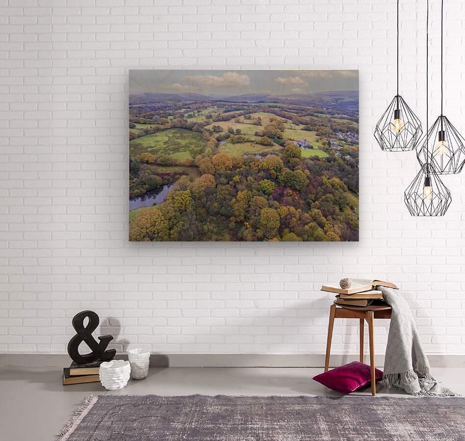 Autumn in Cwm-twrch Isaf  Wood print