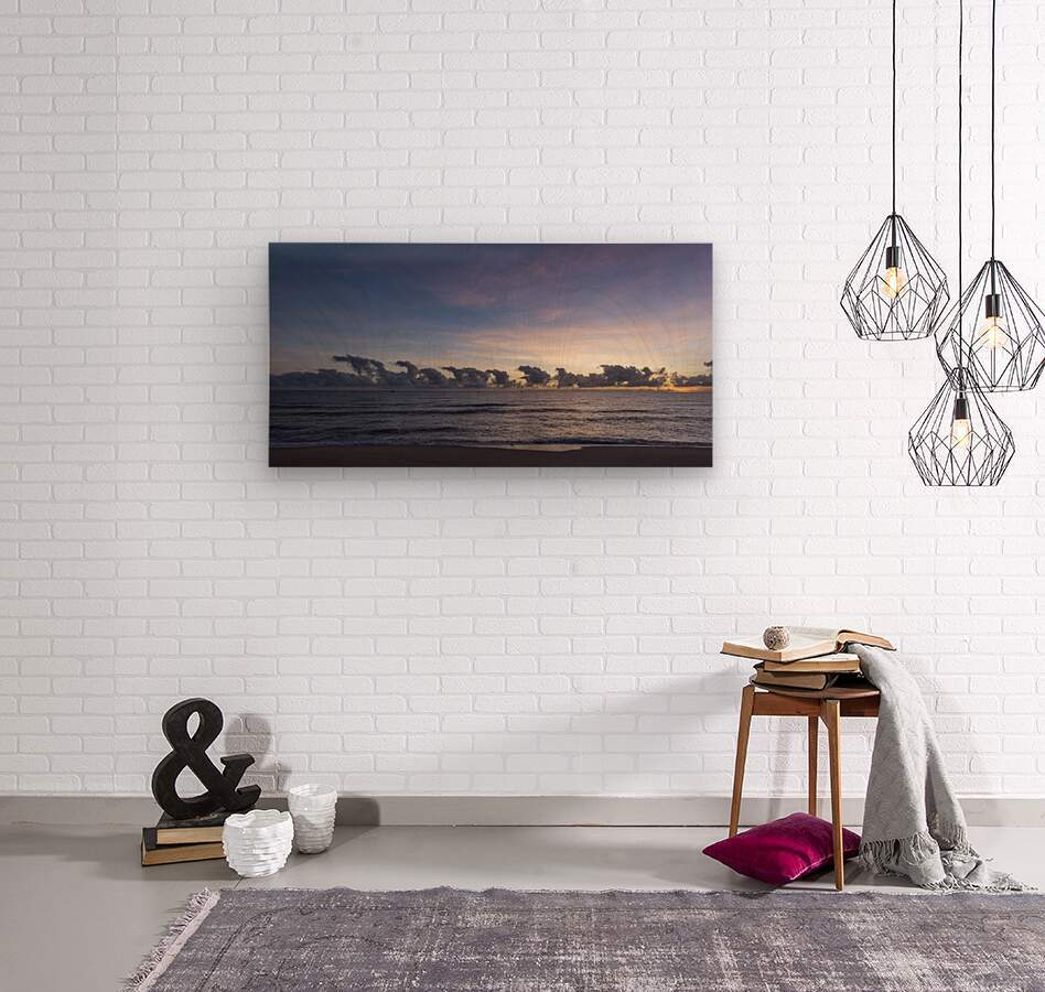 Sunrise Clouds  Wood print