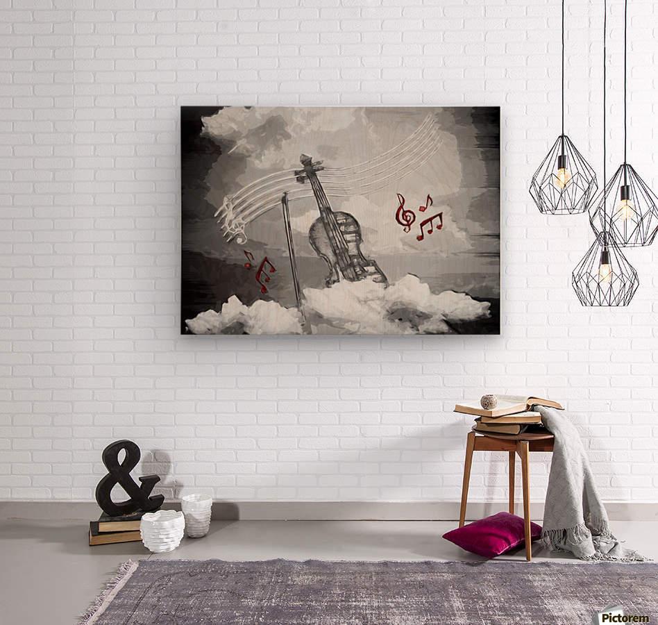 heavenly music  Wood print