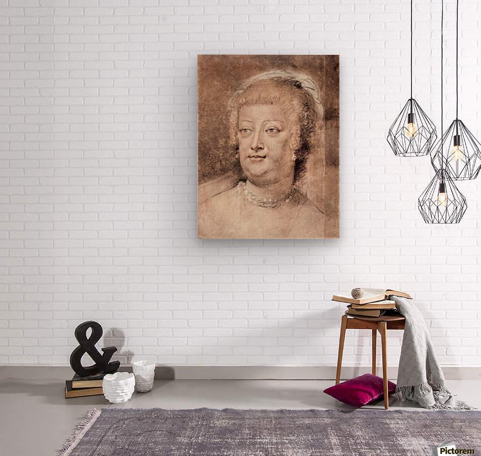Portrait of Maria de Medici by Rubens  Wood print