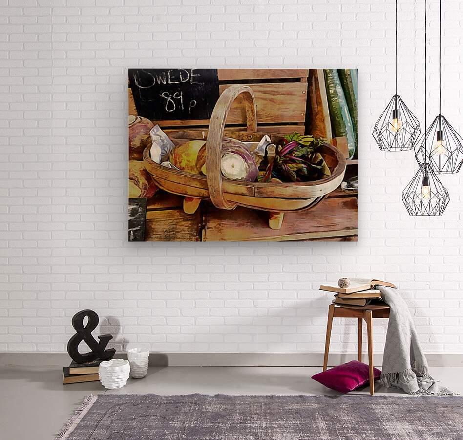 Swede Sale Display  Wood print