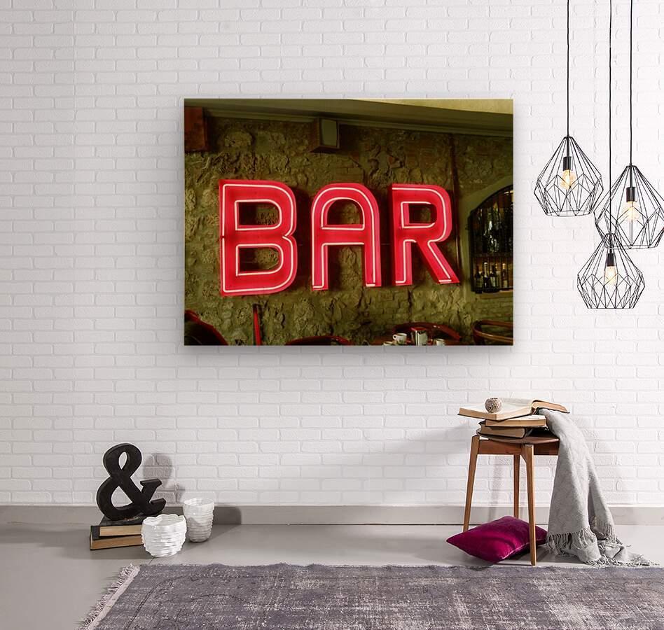 Bar Sign  Wood print