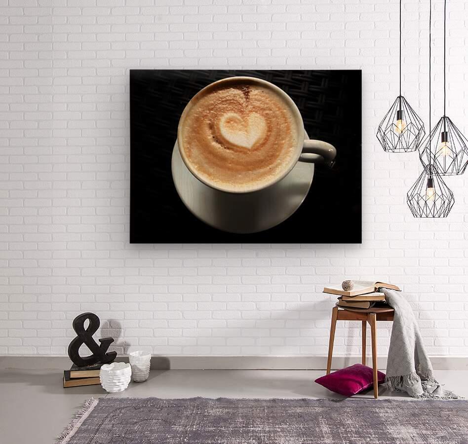 Uno Cappuccino  Wood print