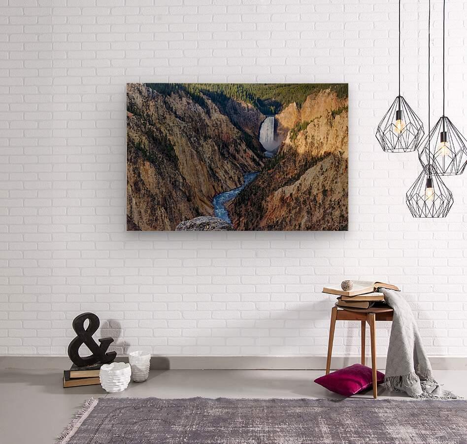 Yellowstone National Park Lower Falls  Wood print