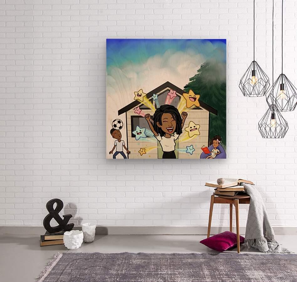 Kids room  Wood print