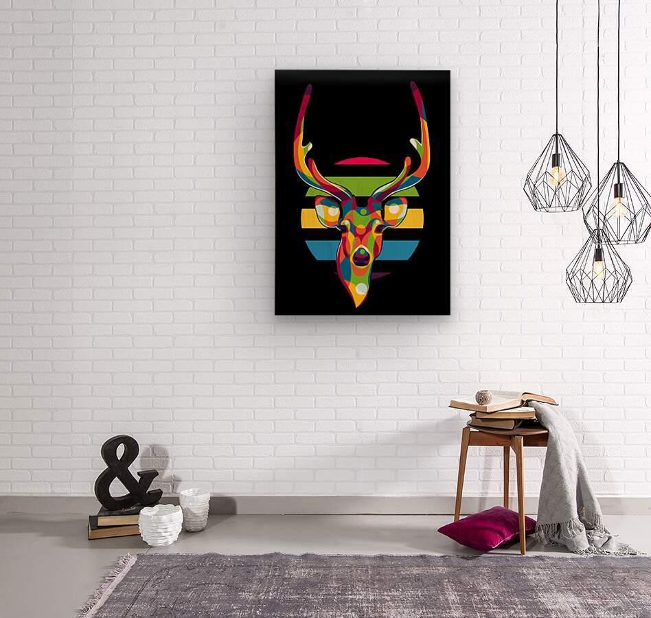 Deer Portrait  Wood print