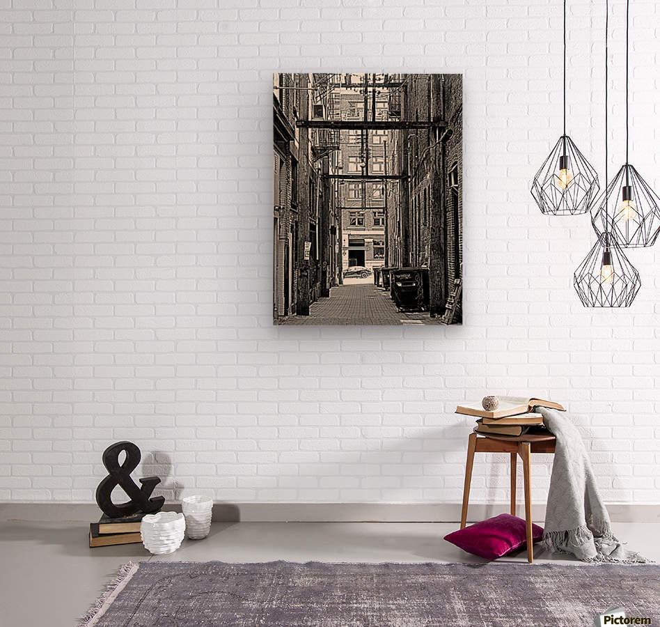 The Old Alleyways  Wood print
