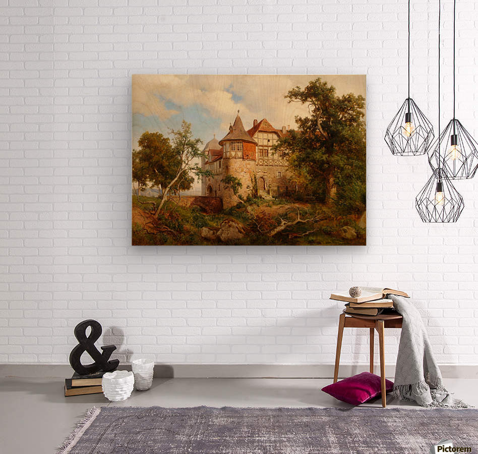 Burg Wohldenberg bei Hildesheim  Wood print