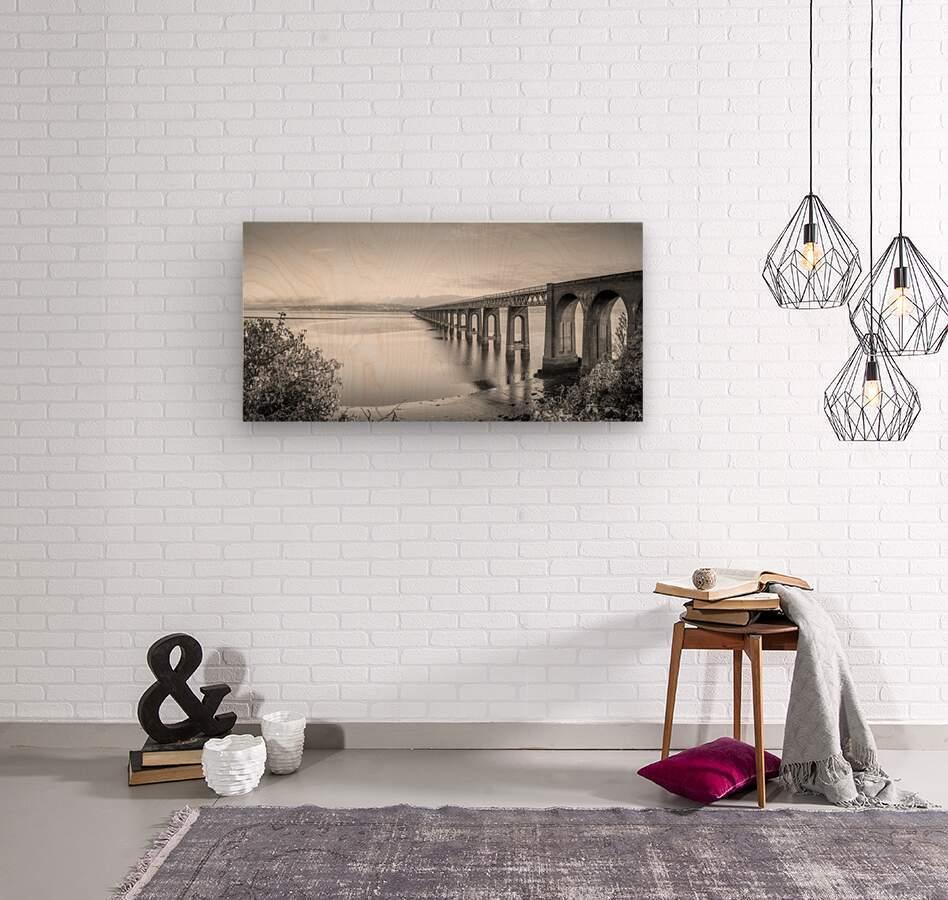 Tay Rail Bridge, Dundee, Scotland  Wood print